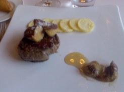 solomillo con foie y boletus al moscatel