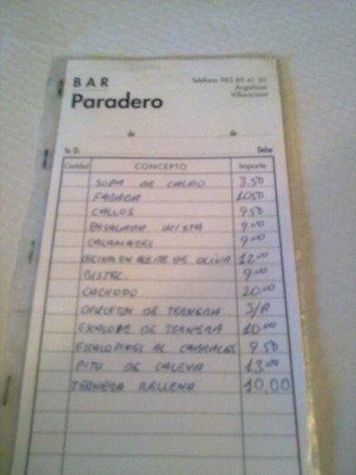 cartaparadero