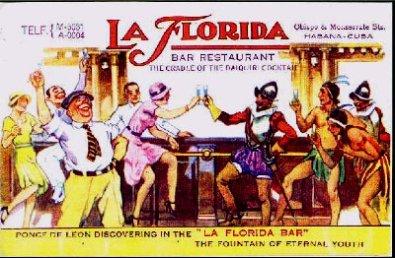 Antiguo anuncio del Floridita