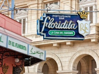 Cartel del Floridita en La Habana
