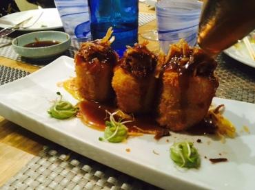 Patatas rellenas de carne estofada