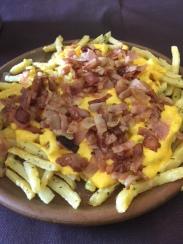 Patatas con bacon crujiente