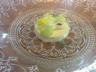 Panacotta de apio con agua de Manzana