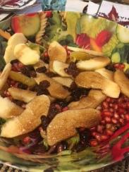 Ensalada de manzana y arándanos - Apple and cramberry salad